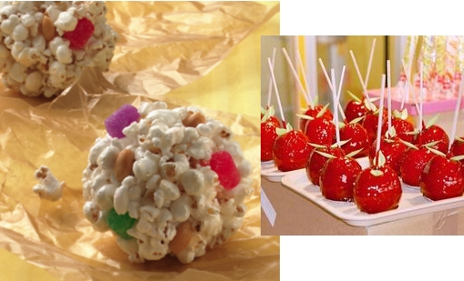 Shiney hard candy glaze recipe for popcorn balls and candied apples.